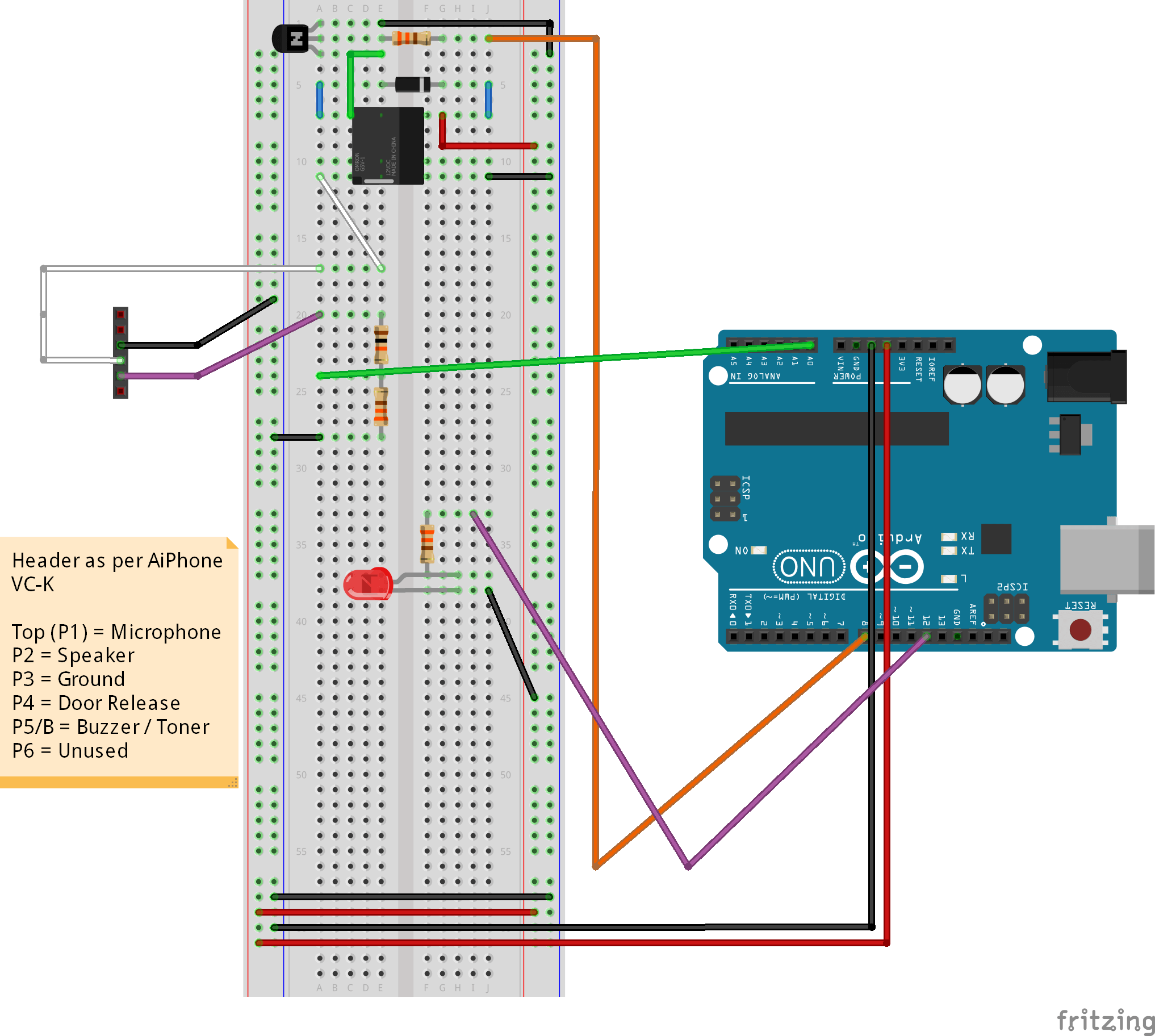 Aiphone Vc K Wiring Diagram 27 Images Lef 3l Arduino Buzzer V1 Bb Remote Building Entry Hack Step 2 The Alpha Build Tales Of A Tech Fritzing Guide